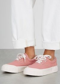 GOOD NEWS Opal pink canvas sneakers ~ chunky sole trainers ~ sport luxe footwear
