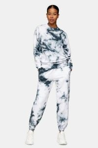 TOPSHOP Grey All Or Nothing Tie Dye Tracksuit / tracksuits / joggers / crew neck sweatshirts