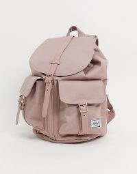 Herschel Supply Co Dawson small backpack in ash rose | pink grab handle backpacks