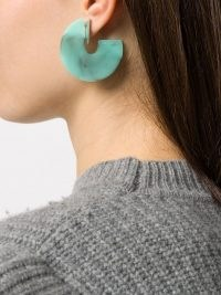 Isabel Marant Boy G earrings | turquoise statement jewellery
