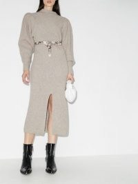 Isabel Marant Perrine knitted mini dress   luxury cashmere blend sweater dresses   designer knitwear   luxe knits