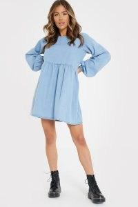 JAC JOSSA BLUE DENIM BALLOON SLEEVE SMOCK DRESS | long sleeve smocked dresses