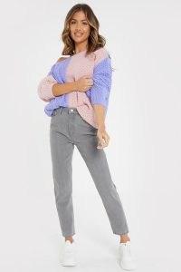 JAC JOSSA GREY HIGH WAIST MOM JEANS | ankle grazers | celebrity denim fashion collaboration