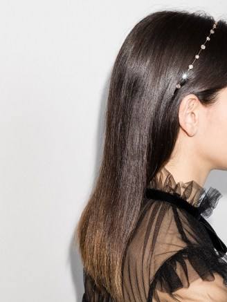 Jennifer Behr Iva crystal headband / headbands / hair accessories - flipped