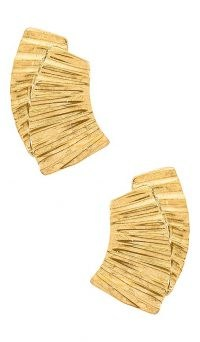 Jennifer Behr Marie Earrings / gold tone statement jewellery