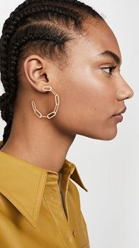 Jennifer Zeuner Jewelry Marta Medium Earrings / chain linked hoops