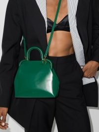 Jil Sander small square-shape tote bag in green leather