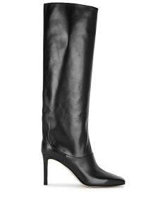 JIMMY CHOO Mahesa 85 black leather knee high boots / square toe high heel boot / footwear