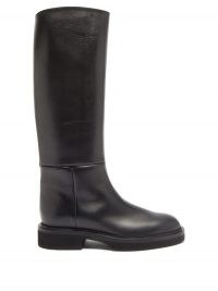 KHAITE Knee-high leather boots | classic winter footwear