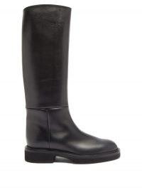 KHAITE Knee-high leather boots | classic winter footwear