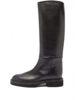 KHAITE Knee-high leather boots | classic winter footwear - flipped