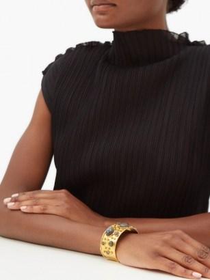 SYLVIA TOLEDANO Labradorite-cabochon cuff | luxe style cuffs - flipped