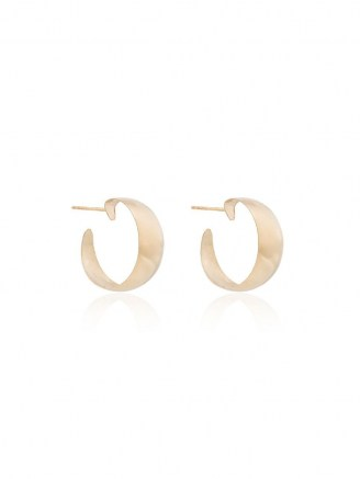 Loren Stewart 10kt yellow gold Baby Dome hoop earrings | classic hoops - flipped