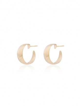 Loren Stewart 10kt yellow gold Baby Dome hoop earrings | classic hoops