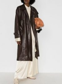 Low Classic leather trench coat – chocolate brown coats – luxe outerwear