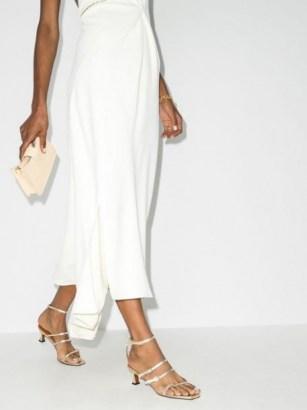 Manu Atelier Naomi 50mm sandals / strappy metallic kitten heel shoes