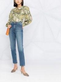 Marc Jacobs lip patch straight-fit jeans | blue denim