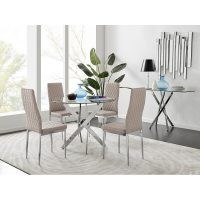 Trapp Dining Set with 4 Chairs by Metro Lane – elegant dining table
