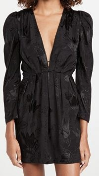 MISA Charlize Dress / plunging lbd