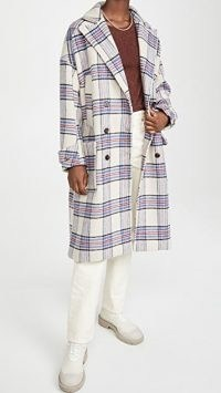 MUNTHE Lin Coat / checked coats / plaid outerwear