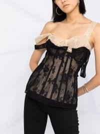 Natasha Zinko lace corset top / lingerie inspired fashion / floral tops