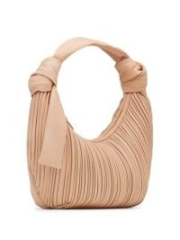NEOUS Neptune shoulder bag / luxe plissé design handbag / pleat effect leather bags