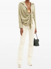 JACQUEMUS Nîmes high-rise straight-leg jeans ~ chic cream denim