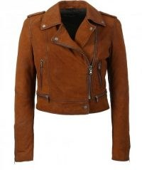 OAKWOOD Yoko Suede Biker Jacket ~ casual zip detail jackets