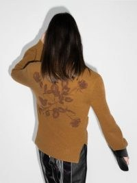 Off-White embroidered wool cardigan ~ floral back detail cardigans