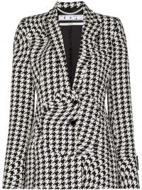 Off-White houndstooth single-breasted blazer / wavy dogtooth print jacket