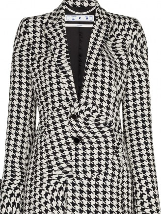 Off-White houndstooth single-breasted blazer / wavy dogtooth print jacket - flipped