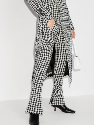 Off-White psychedelic houndstooth-print trousers - flipped