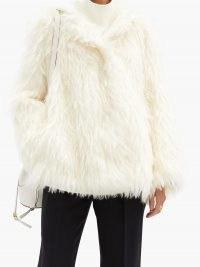 VIKA GAZINSKAYA Oversized mohair hooded coat ~ white shaggy winter coats ~ luxe outerwear