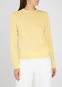PEOPLE'S REPUBLIC OF CASHMERE Yellow cashmere jumper / luxury crew neck jumpers / casual knitwear