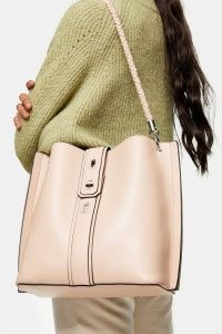TOPSHOP Pink Turn Lock Hobo Bag / shoulder bags