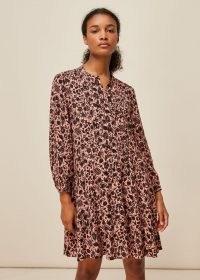 WHISTLES TROPICAL FRUIT PRINT DRESS / pink printed dresses / fruits