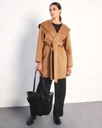 JIGSAW PORTH DOUBLE FACE HOODED COAT / camel wrap coats
