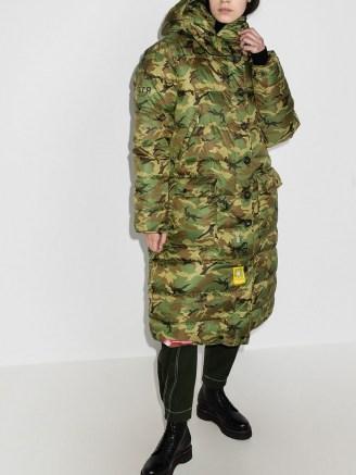 R13 x Brumal camouflage-print puffer coat / padded camo print winter coats - flipped