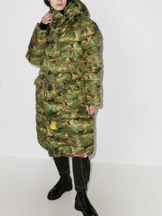 R13 x Brumal camouflage-print puffer coat / padded camo print winter coats