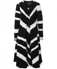 RALSTON Celia Textured Stripe Coat ~ striped statement coats