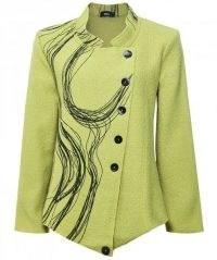 RALSTON Totta Wool Asymmetric Swirl Jacket ~ green jackets