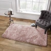 Cavallaro Shaggy Blush Pink Rug by Rosdorf Park – home crafted