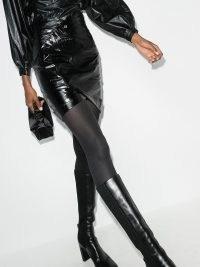 RtA paloma mini skirt ~ black leather skirts ~ asymmetric hemline