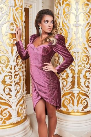 ruby holley asymmetric corset dress in diamante rose velvet | sweetheart neckline party dresses - flipped