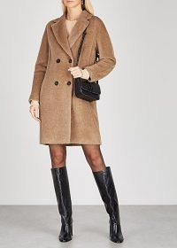 'S MAX MARA Locri camel alpaca-blend coat ~ brown winter coats