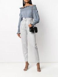 Saint Laurent small Kate crocodile-effect glitter bag / black glittering chain strap shoulder bags / evening crossbody / luxe accessories