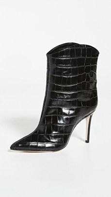 Schutz Kerolym Booties / black croc effect leather boots