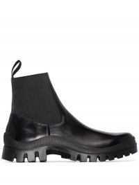 ATP Atelier Catania leather ankle boots / ridged rubber sole / pull tab boots