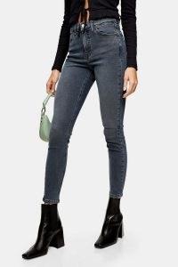 Topshop Smoky Blue Jamie Skinny Jeans | cropped hem high rise skinnies