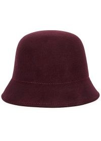 SOEUR Laurel plum felt cloche hat / autumn colours / winter hats / accessories